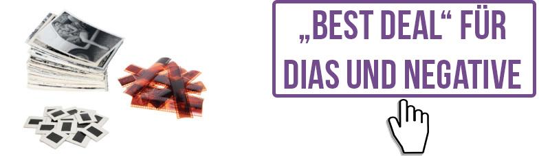 """Hier finden Sie unsere """"Best Deal""""-Preise für Dias und Negative."""