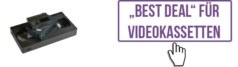 """Hier finden Sie unsere """"Best Deal""""-Preise für Videokassetten."""